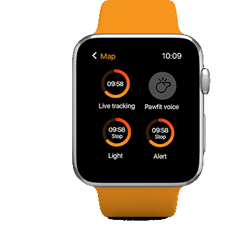 Using Apple Watch App to turn on and off location live tracking, the light and alarm function